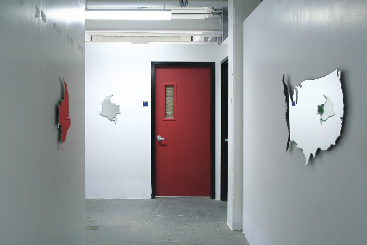 """Nicolás Consuegra, """"Sin título (mapas espejo)"""", 2007."""